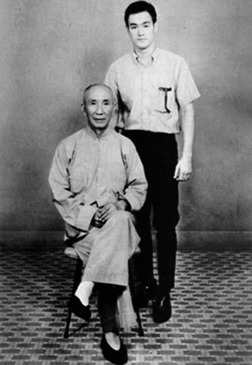 Bruce Lee with Wing Chun Master Yip Man